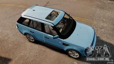 Land Rover Range Rover Sport Supercharged 2010 para GTA 4 vista direita