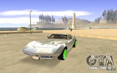 Chevrolet Corvette Stingray Monster Energy para GTA San Andreas esquerda vista