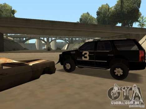 Cadillac Escalade Tallahassee para GTA San Andreas vista direita