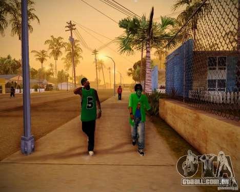 Skins pack gang Grove para GTA San Andreas quinto tela