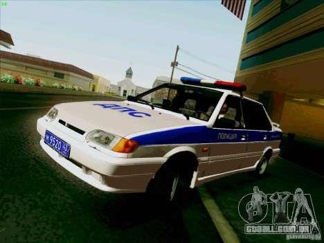 VAZ 2115 polícia para GTA San Andreas traseira esquerda vista