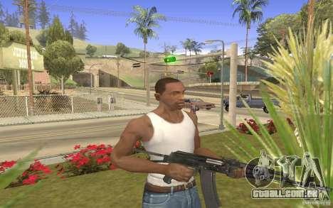 AK 101 para GTA San Andreas terceira tela