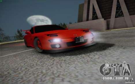 Mazda RX7 Hellalush V.2 para vista lateral GTA San Andreas