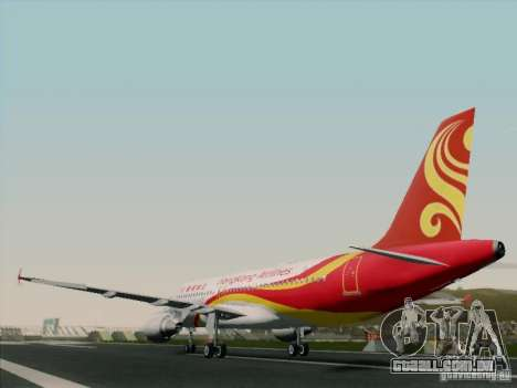 Airbus A320-214 Hong Kong Airlines para GTA San Andreas vista traseira