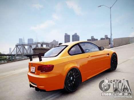 BMW M3 GT-S para GTA 4 traseira esquerda vista