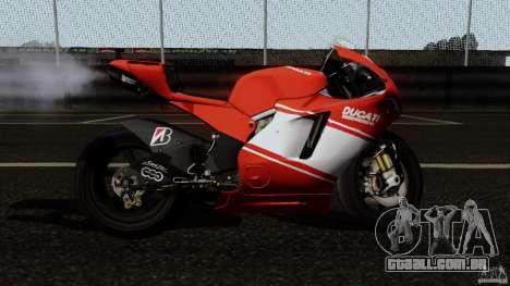 Ducati Desmosedici RR para GTA San Andreas esquerda vista