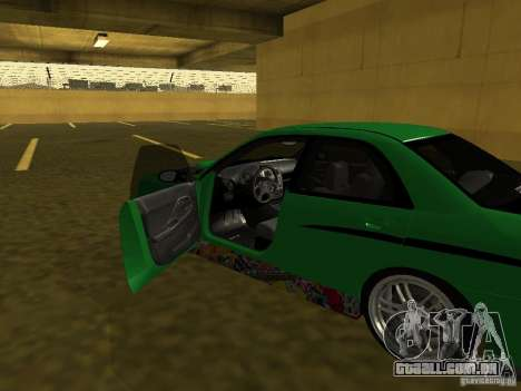 Subaru Impreza WRX para GTA San Andreas vista superior