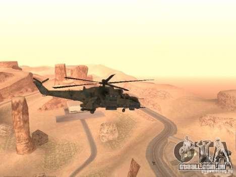 Mi-24 p para GTA San Andreas vista direita