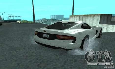 Dodge SRT Viper GTS 2013 para GTA San Andreas traseira esquerda vista
