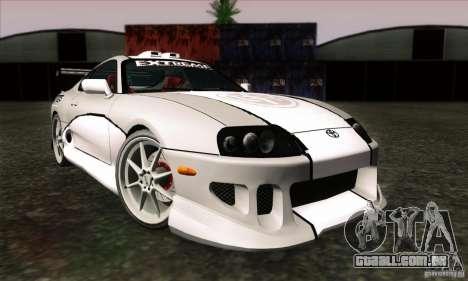 Toyota Supra Tunable para GTA San Andreas traseira esquerda vista