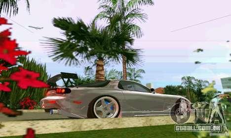 Mazda RX7 tuning para GTA Vice City vista traseira