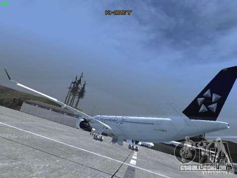 Airbus A330-300 Air Canada para GTA San Andreas traseira esquerda vista