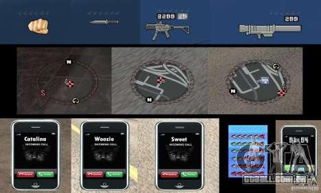 HUD ultra moderno para GTA San Andreas