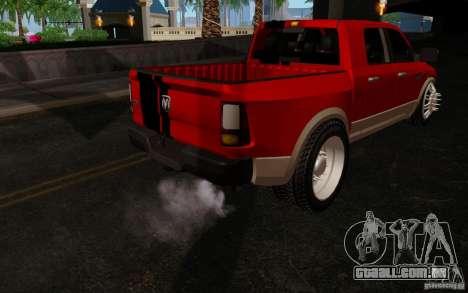Dodge Ram 3500 Tuning para GTA San Andreas vista traseira