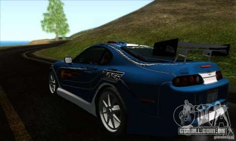 Toyota Supra Tunable para GTA San Andreas interior