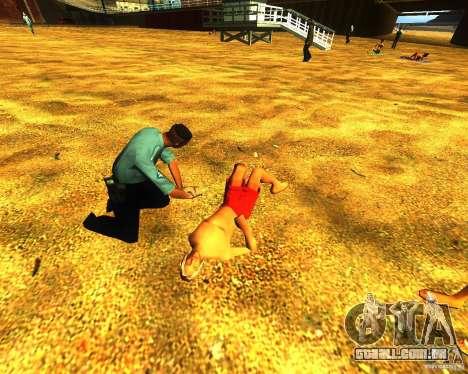 Salvação do homem na praia para GTA San Andreas
