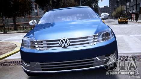 VW Passat B7 TDI Blue Motion para GTA 4 vista direita