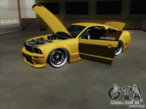Ford Mustang GT Lowlife para GTA San Andreas vista traseira
