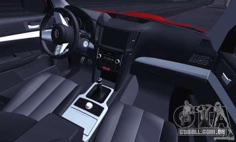 Subaru Legacy B4 2010 para GTA San Andreas vista inferior