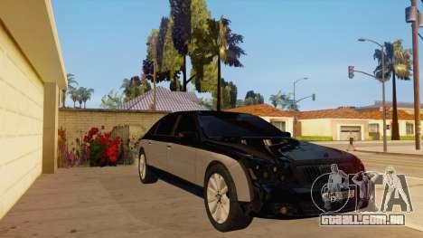 Maybach 62 para GTA San Andreas vista traseira