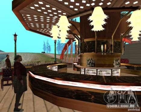 Villa na lagoa de pesca para GTA San Andreas décimo tela