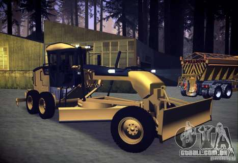Caterpillar 140AWD Motorgrader para GTA San Andreas vista direita