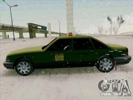 HD táxi SA de GTA 3 para GTA San Andreas vista traseira