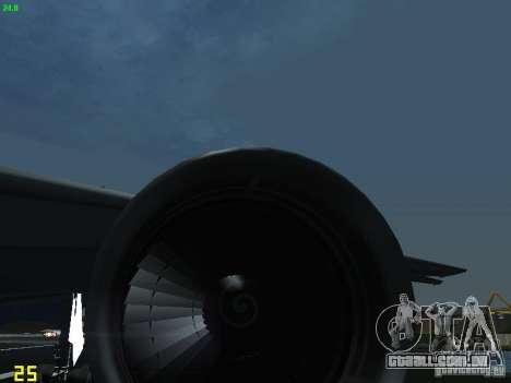 Boeing 767-300 AeroSvit Ukrainian Airlines para GTA San Andreas vista interior