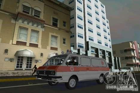RAF-22031 ambulância para GTA Vice City deixou vista