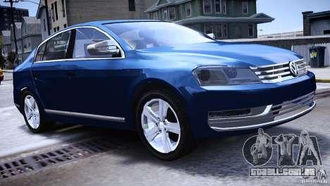 VW Passat B7 TDI Blue Motion para GTA 4 esquerda vista