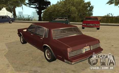 Eon Tahoma para GTA San Andreas esquerda vista