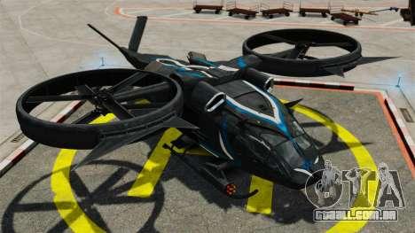 Helicóptero de transporte Samson SA-2 para GTA 4 vista de volta
