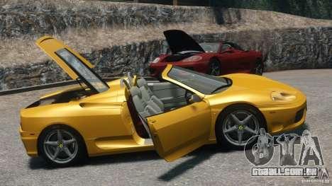 Ferrari 360 Spider 2000 para GTA 4 vista direita