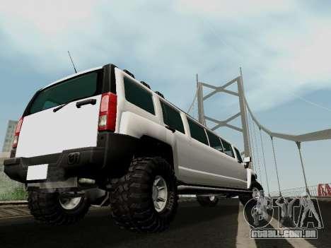 Hummer H3 Limousine para GTA San Andreas esquerda vista