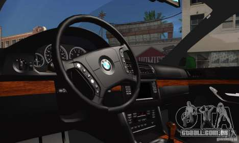BMW M5 E39 para GTA San Andreas vista interior