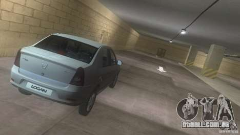 Dacia Logan para GTA Vice City vista interior