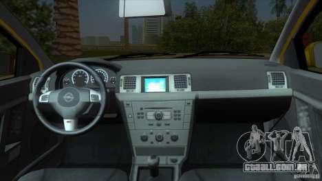 Opel Vectra para GTA Vice City vista traseira