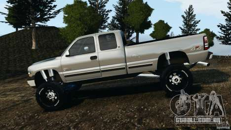 Chevrolet Silverado 2500 Lifted Edition 2000 para GTA 4 esquerda vista