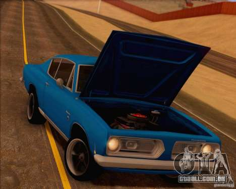 Plymouth Barracuda 1968 para o motor de GTA San Andreas