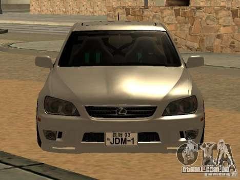 Lexus IS300 JDM para GTA San Andreas traseira esquerda vista