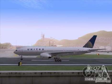Boeing 777-200 United Airlines para GTA San Andreas vista direita