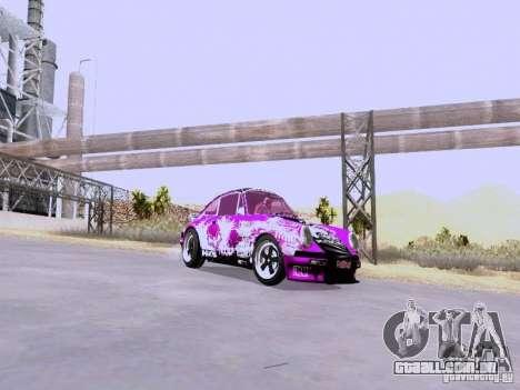 Porsche 911 Pink Power para GTA San Andreas traseira esquerda vista