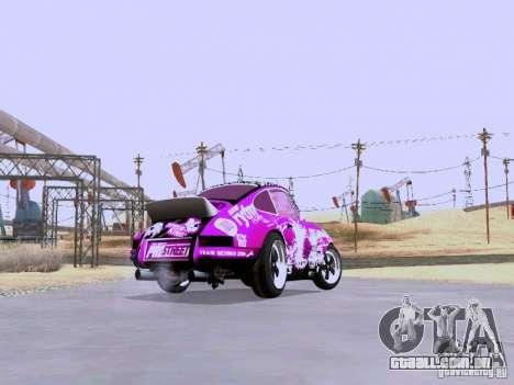 Porsche 911 Pink Power para GTA San Andreas vista traseira