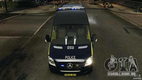 Mercedes-Benz Sprinter Police [ELS] para GTA 4 interior