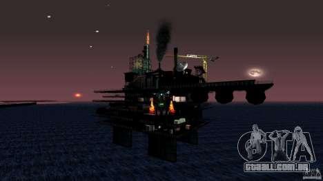 Plataforma de petróleo em Los Santos para GTA San Andreas quinto tela