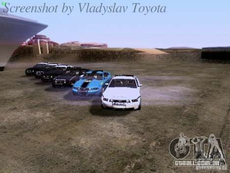Ford Mustang GT 2011 Police Enforcement para o motor de GTA San Andreas