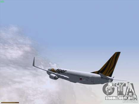 Boeing 737-800 Tiger Airways para vista lateral GTA San Andreas