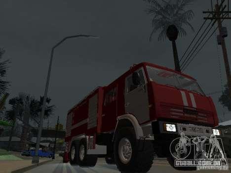 KAMAZ 43118 AC-7 para GTA San Andreas vista traseira