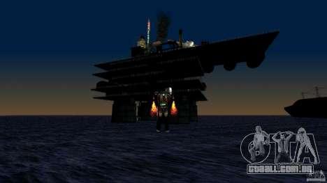Plataforma de petróleo em Los Santos para GTA San Andreas por diante tela