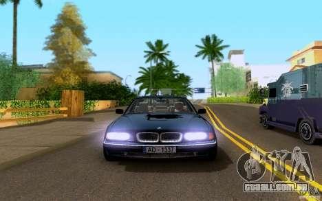 BMW 730i E38 FBI para GTA San Andreas vista traseira